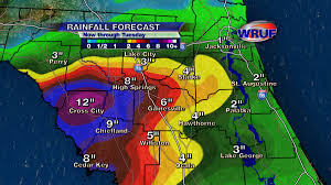Central Florida Map Debby To Drench North Central Florida Wruf Weather