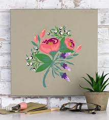 simple paint by number floral project by decoart