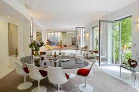 kartell glossy dining table french dining room design white interior design ideas