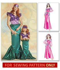 Mermaid Halloween Costume Kids Ariel Costume Pattern Mermaid Costume Whatcamefirst