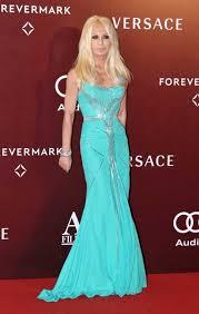 versace designer donatella versace wears versace well haver