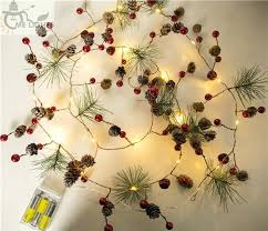 philips pine cone string lights pine cone string lights red berry garland led copper fairy for