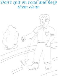 keep roads clean coloring page