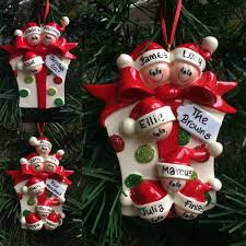 gift family personalised christmas tree decoration