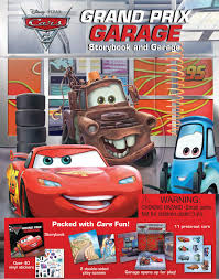 cars movie characters cars 2 grand prix garage book by cynthia stierle disney u2022pixar