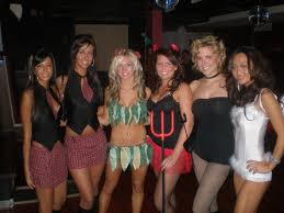 tigris promotional models host halloween party at district nightclub