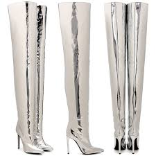 womens boots that feel like sneakers poses in s silver balenciaga thigh