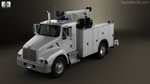 kenworth service 360 view of kenworth t300 heavy service truck 2006 3d model