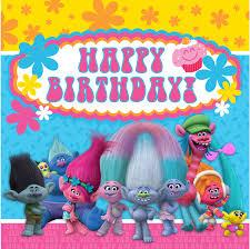 8x8ft happy birthday trolls concert flowers custom photo