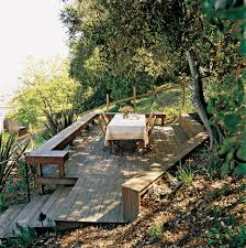 Decking Ideas For Sloping Garden New Deck And Stairs A Slope Sunset Magazine