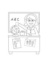 dessin de bureau coloriage de pour enseignants dessin professeur devant bureau