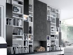 living room storage wall shelf
