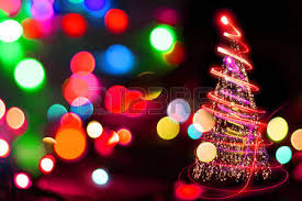 tree lights on the black background stock photo picture and