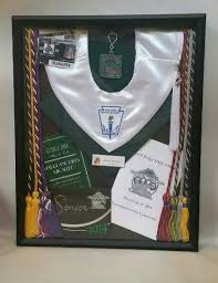 graduation shadow box graduation shadow box with cords cap invitations program