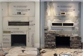 how to install stone around fireplace ledge stone tile