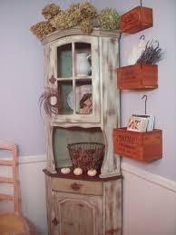 vibrant design distressed corner cabinet amazing decoration white