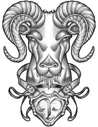 fresh ink aries symbol and tribal tattoos photo 3 real photo