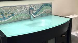 inspiring glass bathroom countertops cgd of home design ideas
