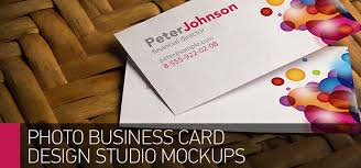 Studio Visiting Card Design Psd Photo Based Business Card Mockups By Bennet1890 Graphicriver
