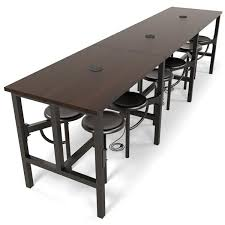 standing height folding table 9012 endure walnut conference table metal seats ofm jpg