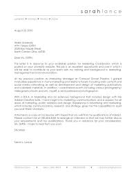 great sample cover letter for marketing coordinator 62 for your