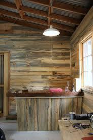 Reclaimed Wood Shelves Diy by Diy Pipe Shelf U0026 Reclaimed Wood Plank Walls