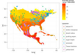 Plot Map Overlaying Species Occurrence Data With Climate Data