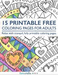 15 printable free coloring pages for adults pdf favecrafts com