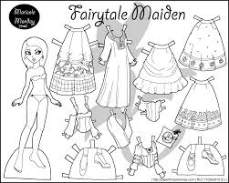 free printable paper doll coloring pages for kids for dolls