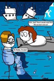 Titanic Door Meme - the ending of titanic makes more sense now imgur