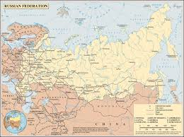 Georgia Road Map Large Detailed Road Map Of Russia Russia Large Detailed Road Map