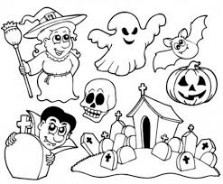 halloween line drawings coloring pages print how draw chibi taz halloween 717682