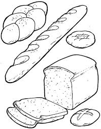 Bread Coloring Pages Funycoloring Bread Coloring Page