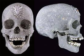 diamond studded diamond studded skull real skull real bling ohgizmo