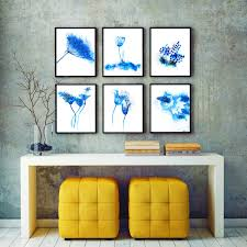 Modern Wall Art Abstract Watercolor Set Of 6 Prints Wall Art Flower