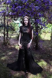 13 black wedding dresses that will bring out your inner morticia
