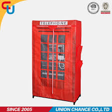 Red Phone Booth Cabinet Sale Portable Wardrobe Cabinet Red Telephone Booth Printed