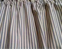 Blue Ticking Curtains Ticking Curtains Etsy