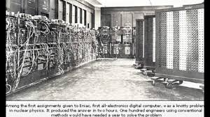 Eniac by Evolution Of Computer Technology From History To Present With