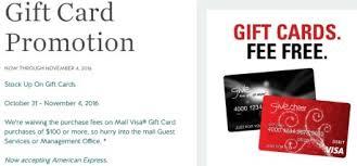 no fee gift cards hot no fee visa gift cards at macerich malls till 11 4 danny