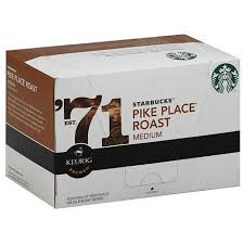 starbucks pike place roast medium keurig brewed k cups ground