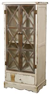 tuscany cabinet with glass door rustic white farmhouse china