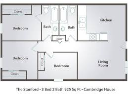 3 bedroom ranch house floor plans 3 bedroom apartment floor plans pricing cambridge house davis ca