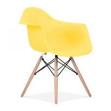 yellow eames style daw chair side chair cult furniture uk