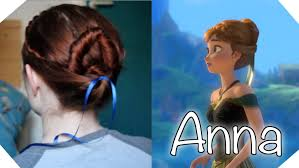 anna from frozen hairstyle disney s frozen hair tutorial anna at the coronation youtube