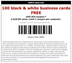 100 free business cards at staples coupon karma