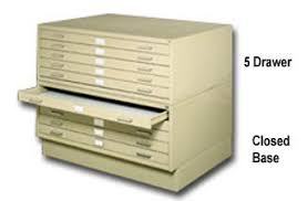 deluxe metal flat file cabinets by safco in stock