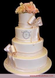 cake monograms monogrammed flower wedding cake wedding cakes