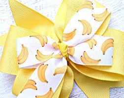 banana hair banana hair bow etsy