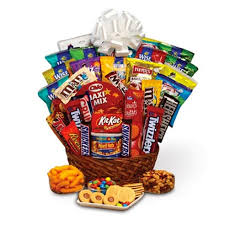 food baskets to send supersonic sweetness candy gift basket at send flowers